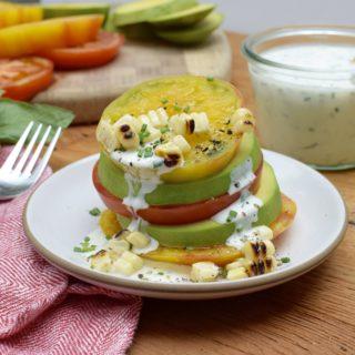 Avocado Tomato Stacks with Ranch Dressing|Pamela Salzman