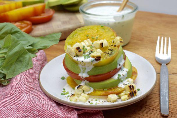 Tomato and Avocado Stacks with Ranch Dressing Recipe | Pamela Salzman ...
