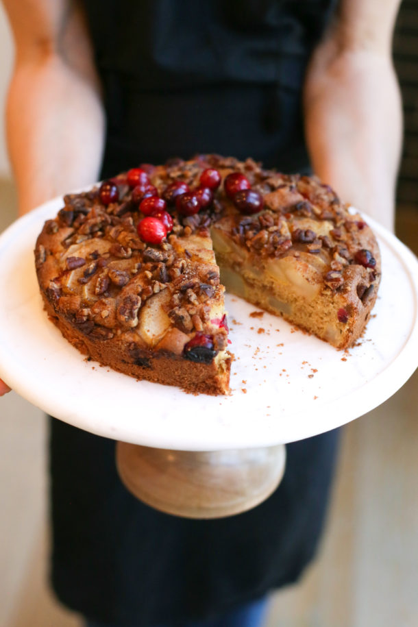 Whole Grain Pear-Cranberry Buckle Recipe | Pamela Salzman & Recipes
