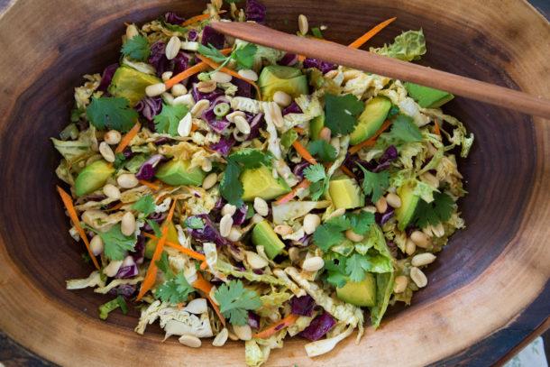 California Pizza Kitchen Thai Crunch Salad No Dressing